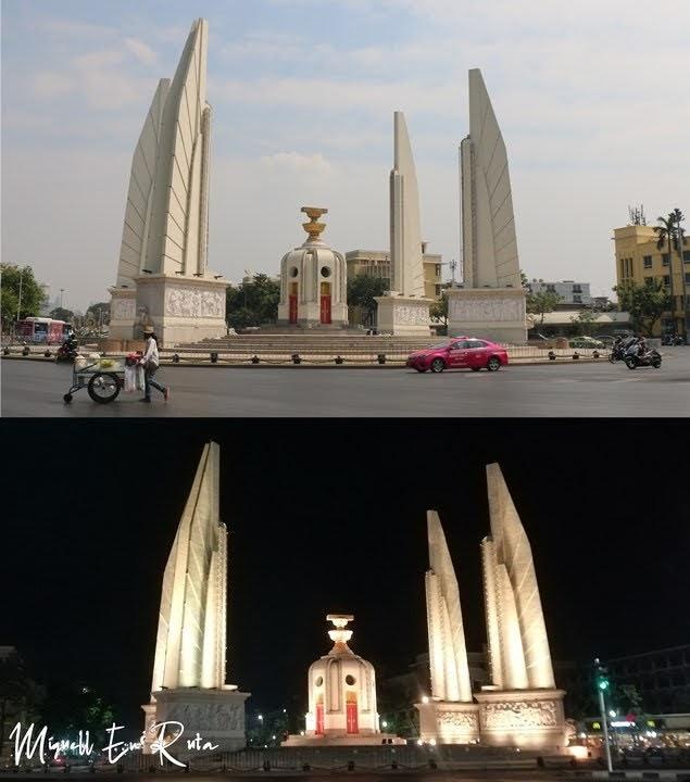 Monumento a la democracia en Bangkok