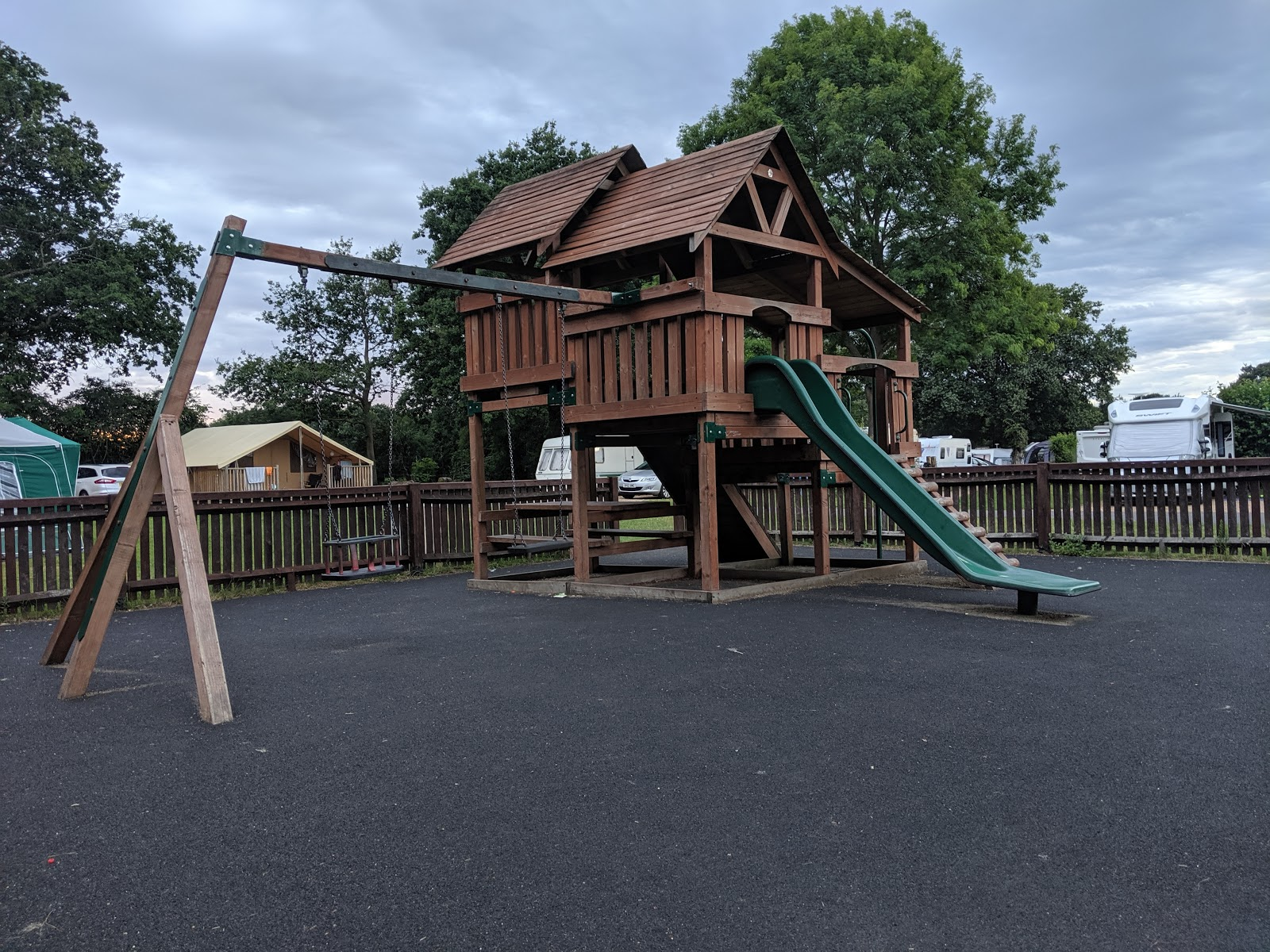 Ready Camp Horsley Review : Glamping near LEGOLAND and Chessington World of Adventures - play park