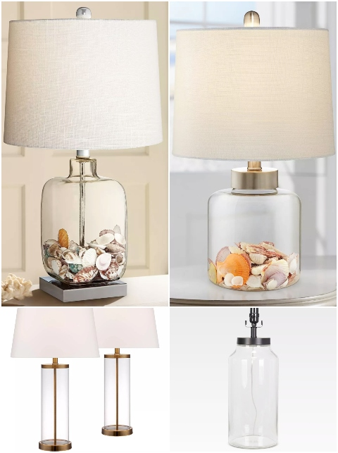 Shop Fill Glass Table Lamps with Shells