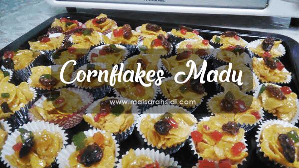 Resepi Cornflakes Madu - Kuih Raya Mudah