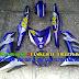 Mẫu sơn tem đấu airbursh Exciter 150 màu trắng xanh GP [Exciter150_SG2019]