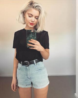 Outfit con shorts de jeans