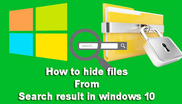 computer me search result se file hide kaise kare