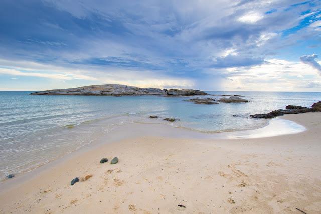 Spiaggia del Villas resort hotel-Castiadas-Scoglio di Peppino