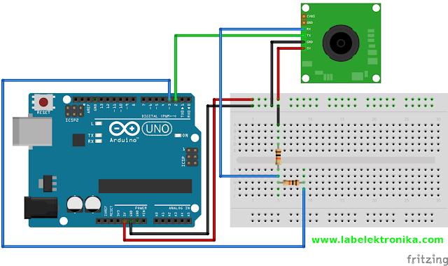 Wiring Camera Serial VC0706 Dengan Menggunakan Arduino