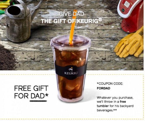 Keurig Father's Day Free Tumbler