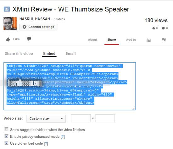 Teknik Betul Kongsi Video Youtube Dalam Blog