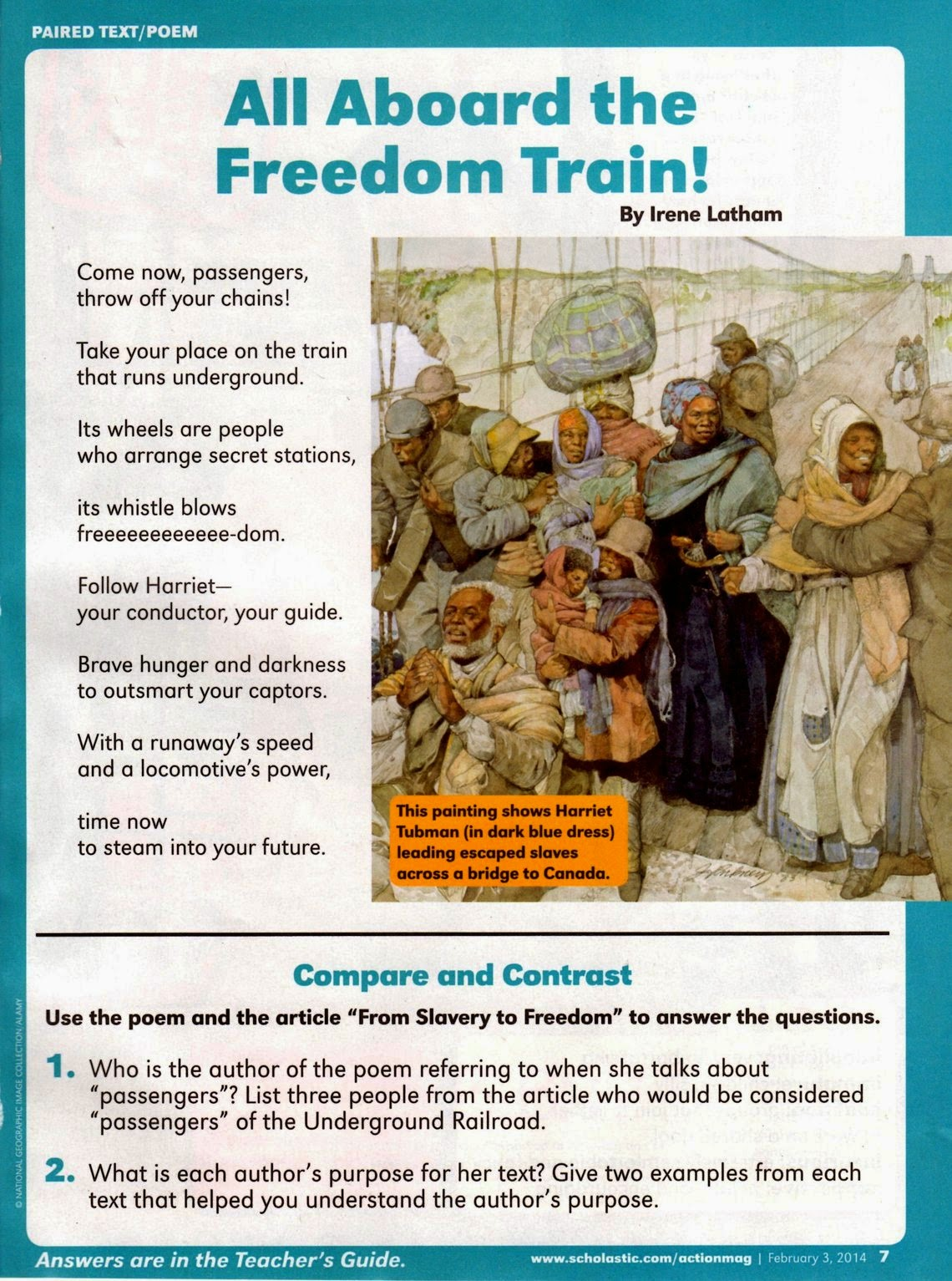 Live Your Poem Harriet Tubman Poem
