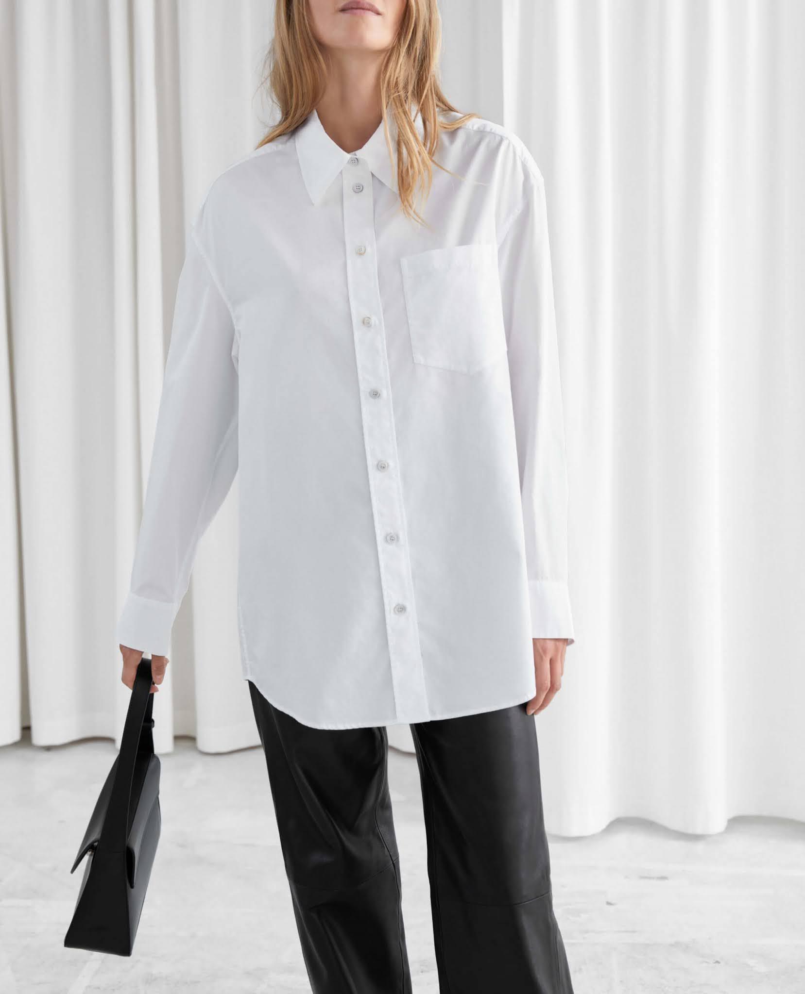 voluminous button up shirt