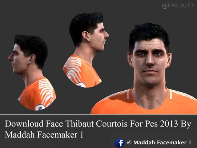 Thibaut Courtois Face PES 2013