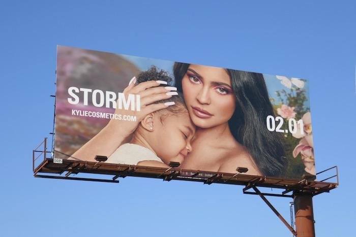 Kylie Cosmetics Stormi 2020 billboard