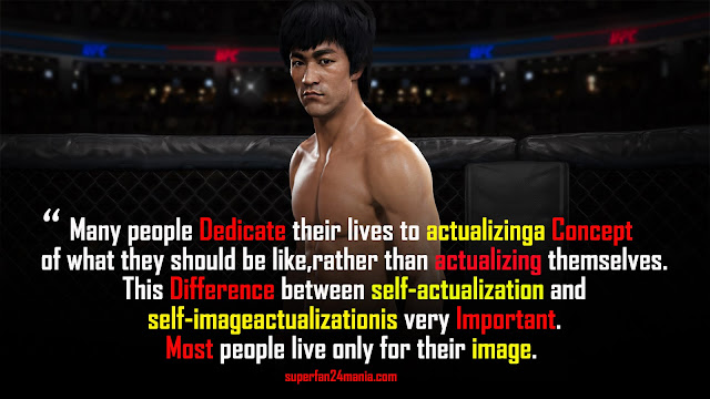 Many people dedicate their lives to actualizing a concept of what they should be like, rather than actualizing themselves. This difference between self-actualization and self-image actualization is very important. Most people live only for their image.