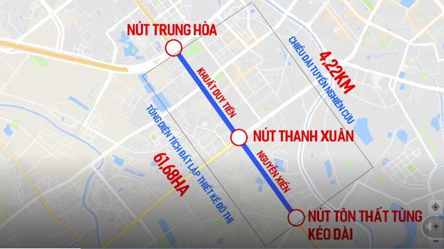Quy hoạch đô thị đoạn Khuất Duy Tiến - Nguyễn xiển