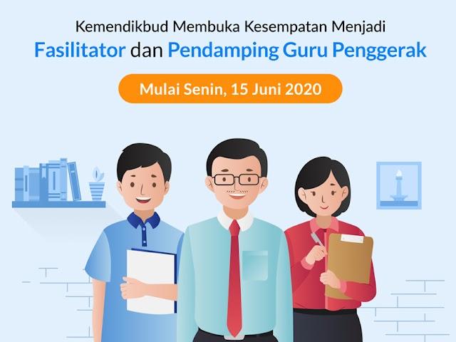 Jadwal, Syarat, dan Cara Pendaftaran Fasilitator dan Pendamping Calon Guru Penggerak Bulan Juni 2020