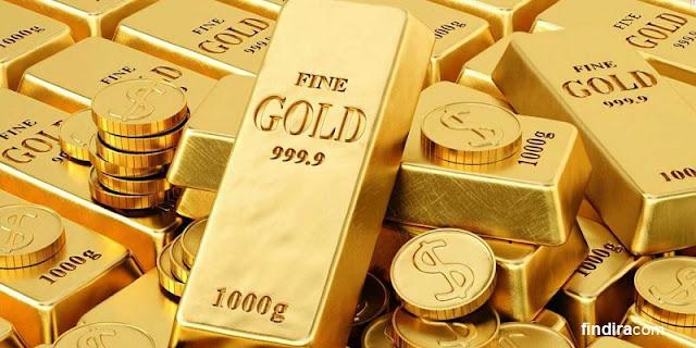 koin emas dan batangan emas