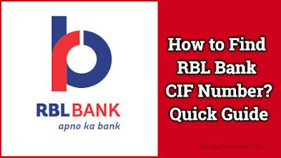 RBL Bank CIF Number