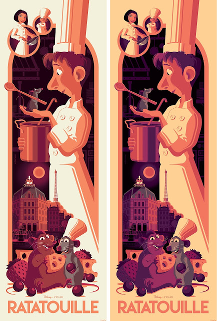 Ratatouille Movie Poster Screen Print by Tom Whalen x Cyclops Print Works x Disney*Pixar