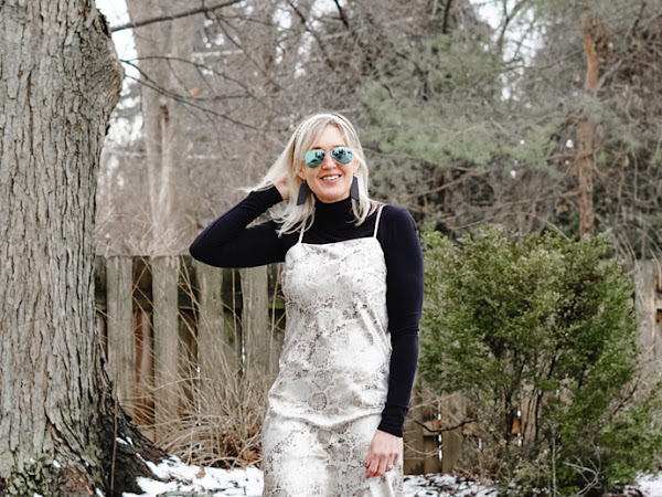 How to Wear a Slip Dress in the Winter