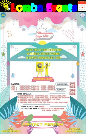 Lomba Ide Kreatif Peluang Bisnis Manajemen Expo Unila 2019 Mahasiswa