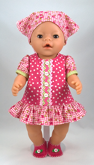 Free Baby Born 174 Doll Clothes Pattern In English