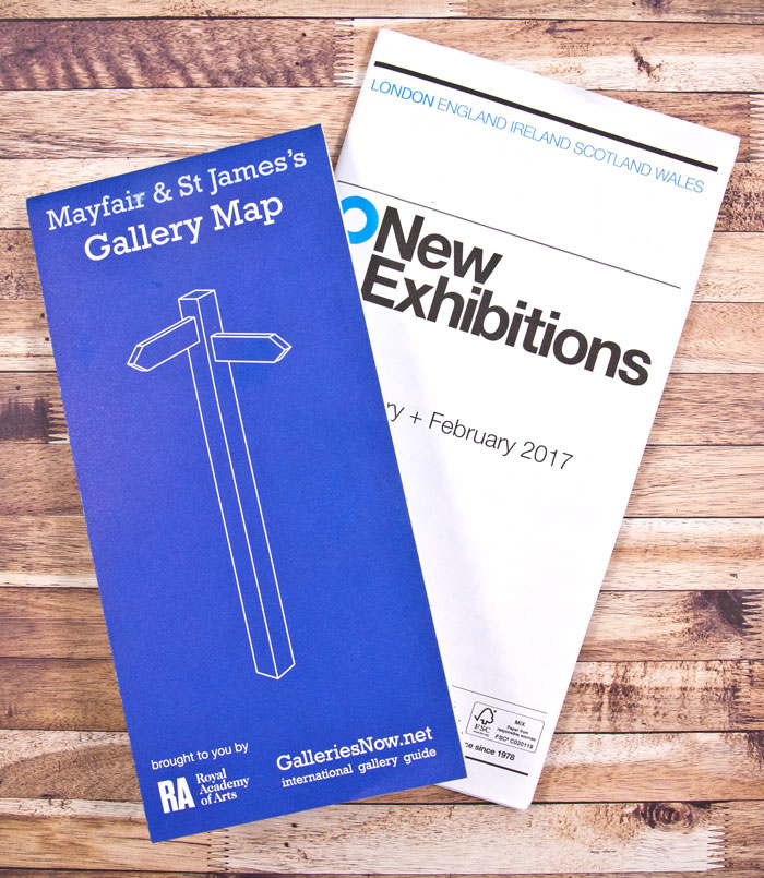 Art Exhibition listings - paper maps