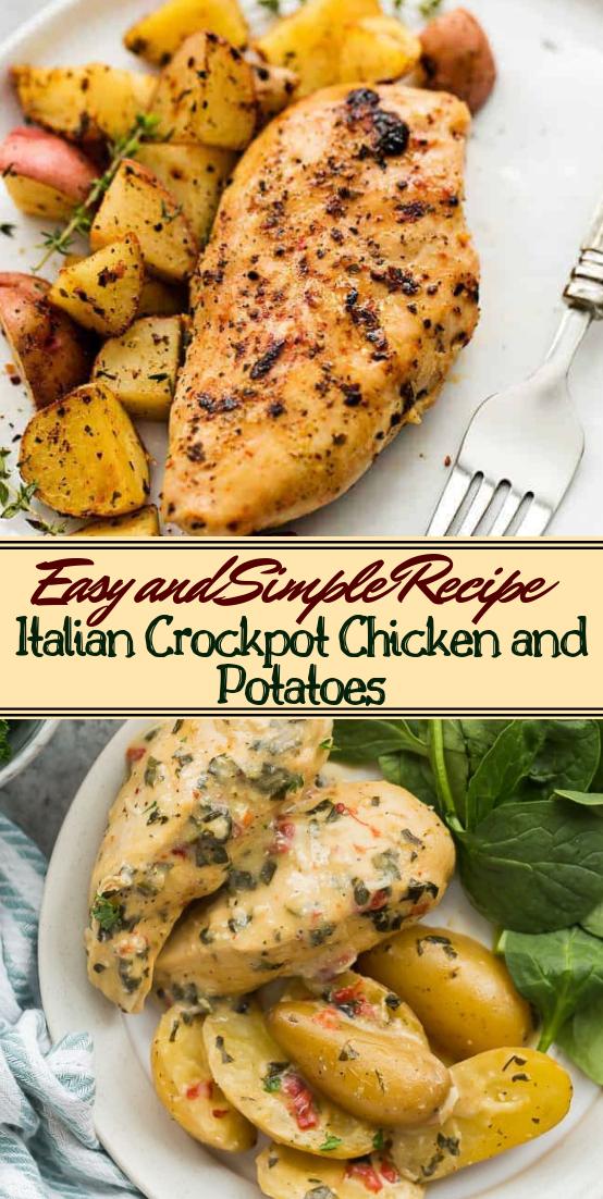 Italian Crockpot Chicken and Potatoes #dinnerrecipe #food #amazingrecipe #easyrecipe