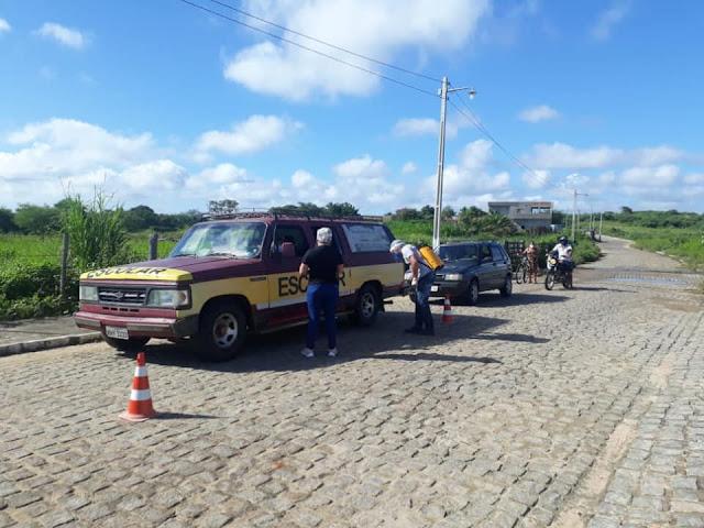 Prefeitura de Riacho dos Cavalos, através da Secretaria de Saúde implantou uma nova barreira sanitária de combate e prevenção ao covid-19
