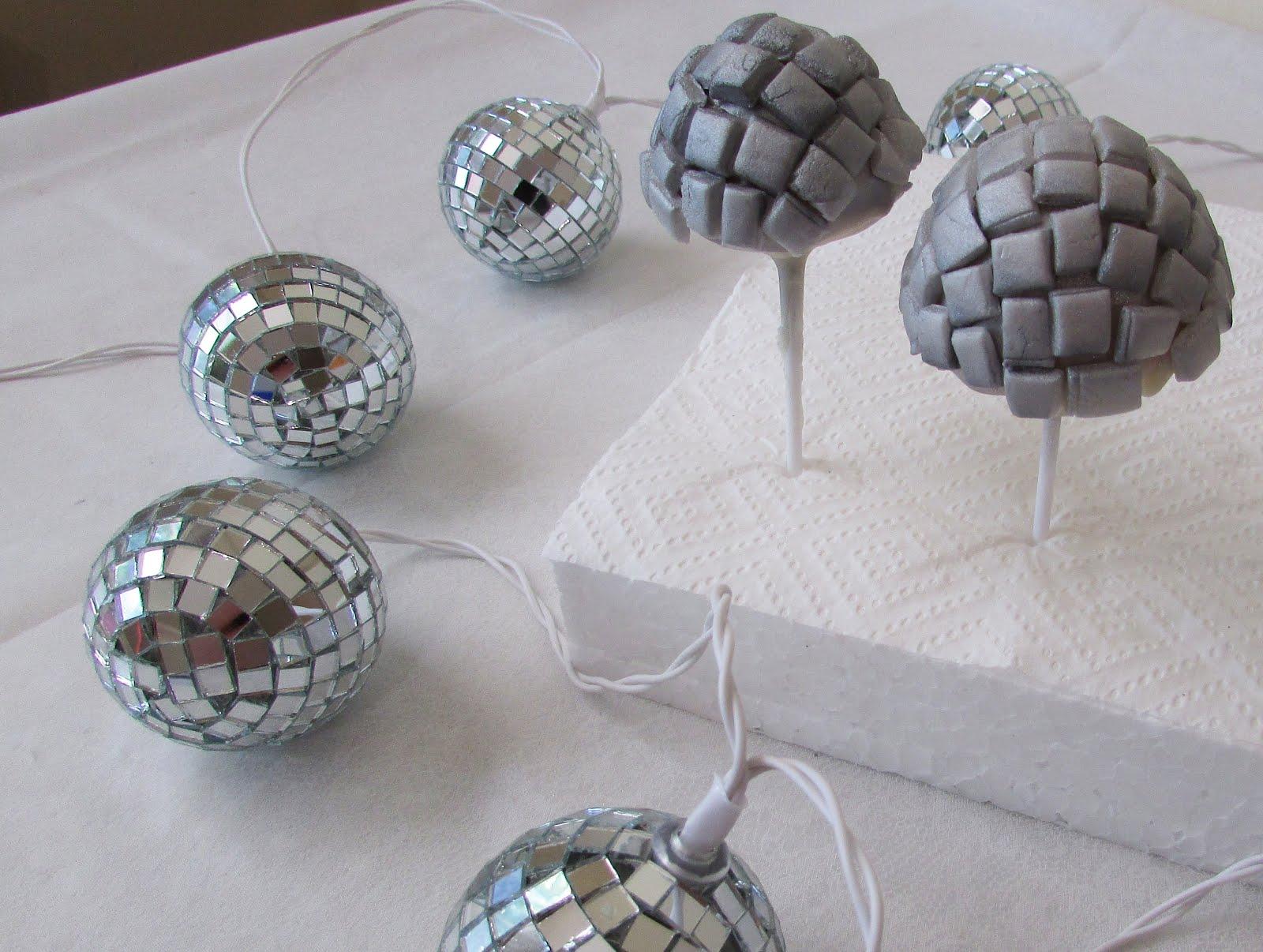 DIY Disco Ball Cake Pops