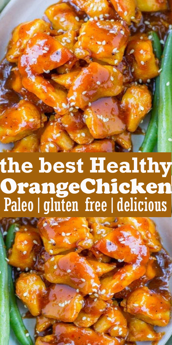 Healthy Orange Chicken #Healthy #Orange #Chicken #dinner #recipe