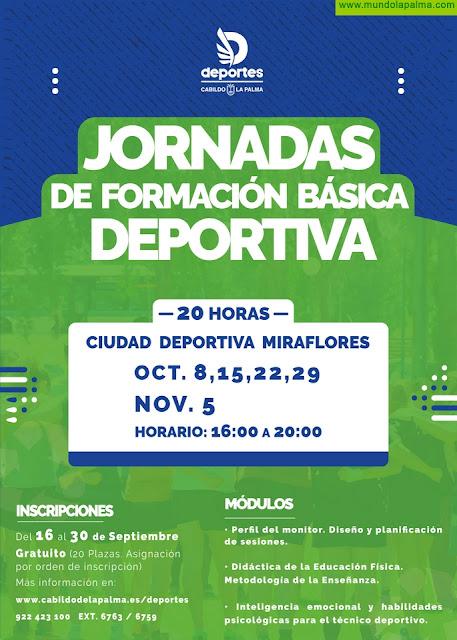 El Cabildo organiza unas jornadas de formación básica deportiva