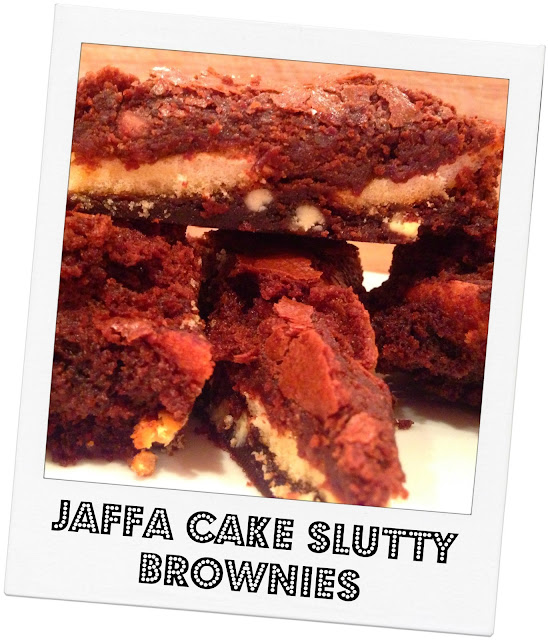 Jaffa Slutty Brownies