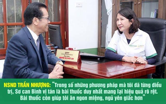 NSND Trần Nhượng điều trị thành công tại Trung tâm Thuốc dân tộc