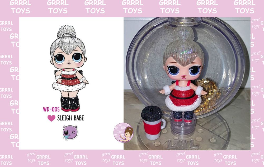 Sleigh Babe Glitter Globe series 005 ultra-rare doll from Winter Disco series