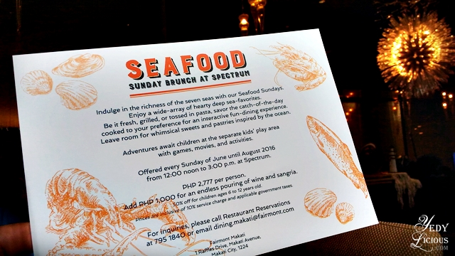 Seafoos Sunday Brunch Buffet at Spectrum Restaurant