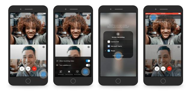 تفعيل مشاركة الشاشة في سكايب على الأندرويد وأيفون