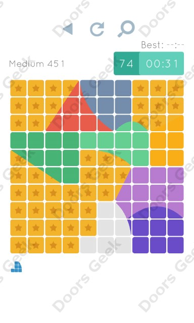 Cheats, Walkthrough for Blocks and Shapes Medium Level 451