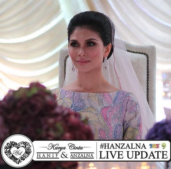Gambar majlis resepsi Anzalna Nasir dan Hanif Zaki