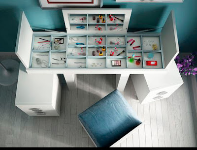 modern dressing table with drawers for makeup storage ideas for bedroom