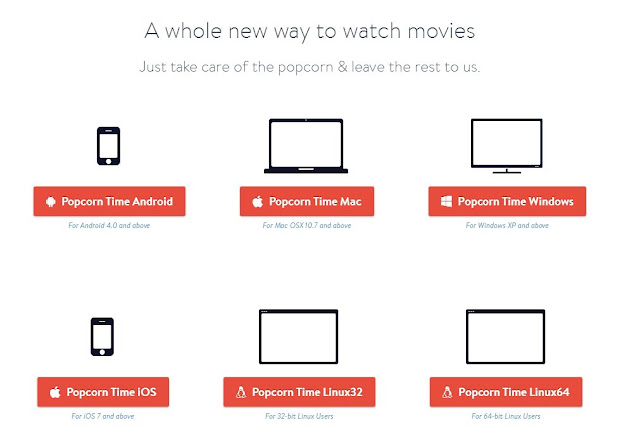 Android iOS Mac Linux popcorn time