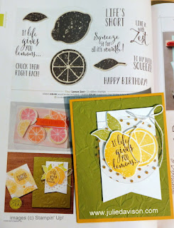 CASEing the Catalog ~ Stampin' Up! Lemon Zest ~ 2017-2018 Annual Catalog ~ www.juliedavison.com
