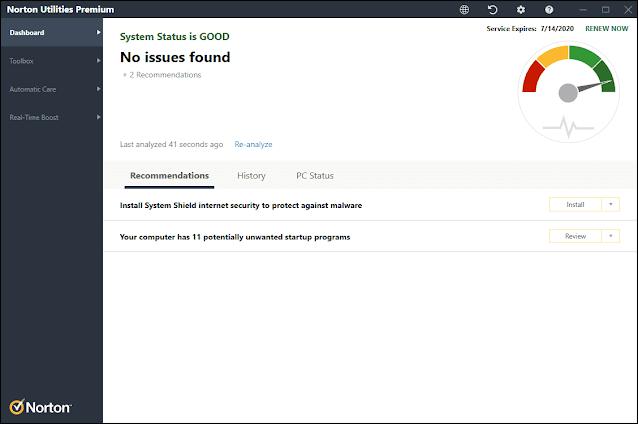 Norton Utilities Premium v17.0.6.888 Phiên bản đầy đủ