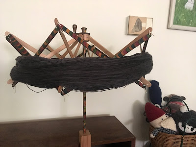 yarn on a swift for winding