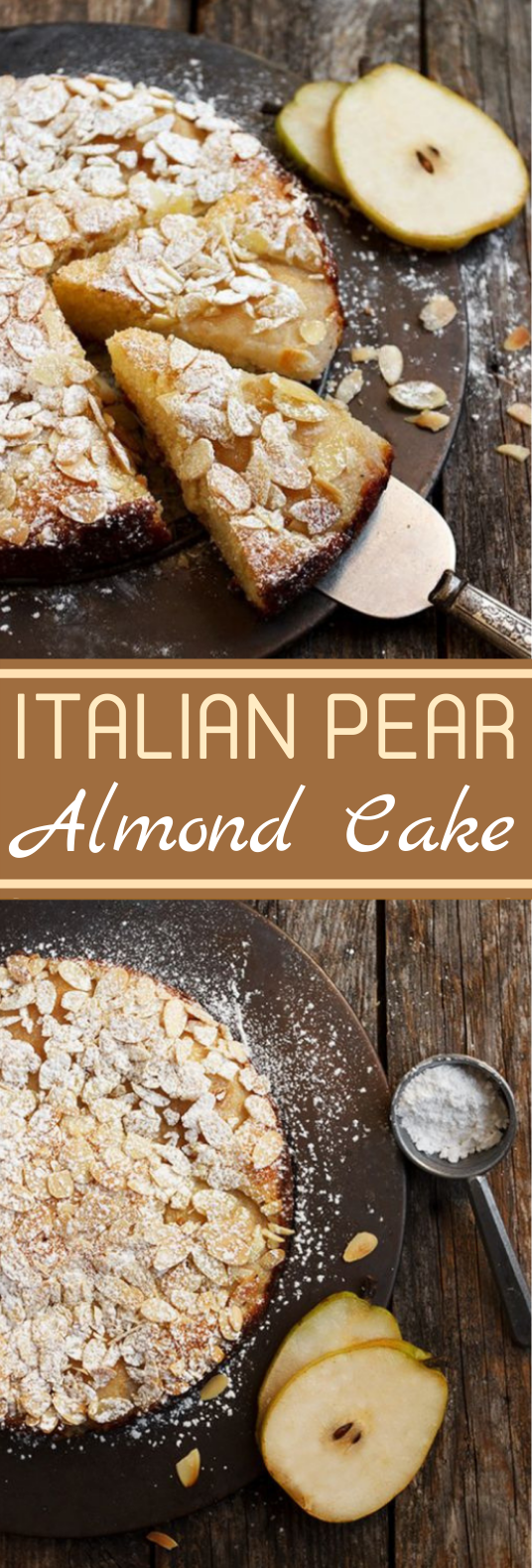 Italian Pear Almond Cake #desserts #cake #baking #easy #pie