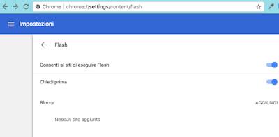 attivare disattivare flash su Chrome