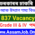 Agriculture Department Assam Recruitment 2021 – 1837 Grade III And Grade IV Vacancy