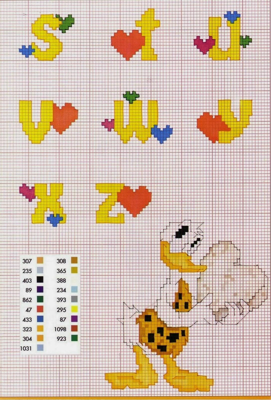Professione donna schemi a punto croce alfabeto con i for Punto croce schemi alfabeto