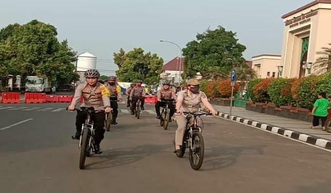 Wakapolres Pandeglang Pimpin Patroli Bersepeda