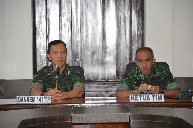 Tim Wasrik Itdam XIV Hasanuddin Periksa Korem 141/Tp