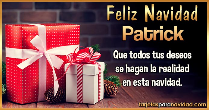 Feliz Navidad Patrick