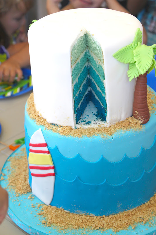 Surf And Sand Birthday Cake The Little Epicurean